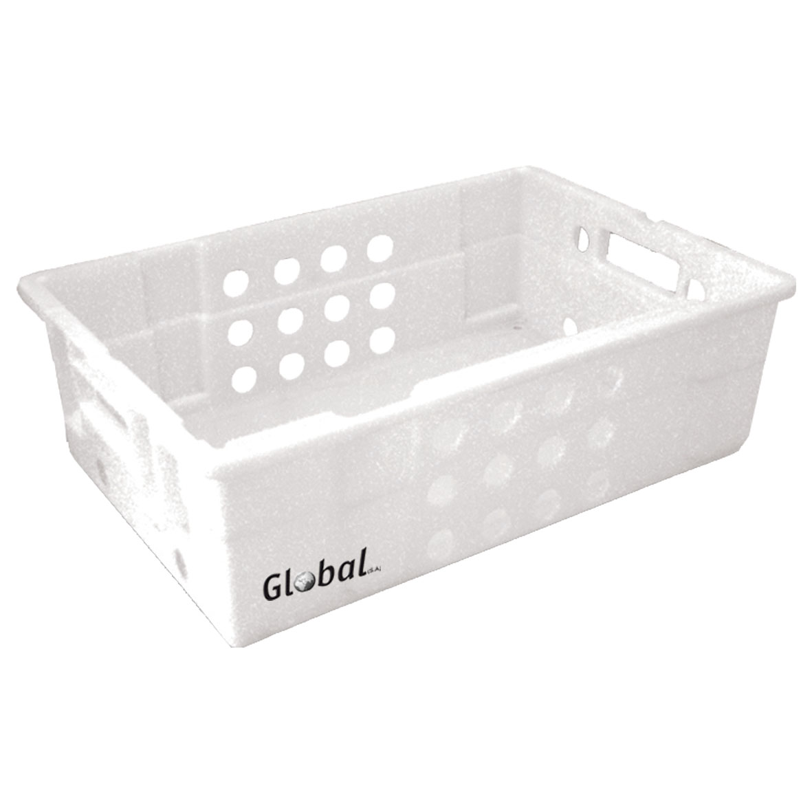 FREEZER CRATE PLASTIC - VENTED - 600 x 400 x 188mm