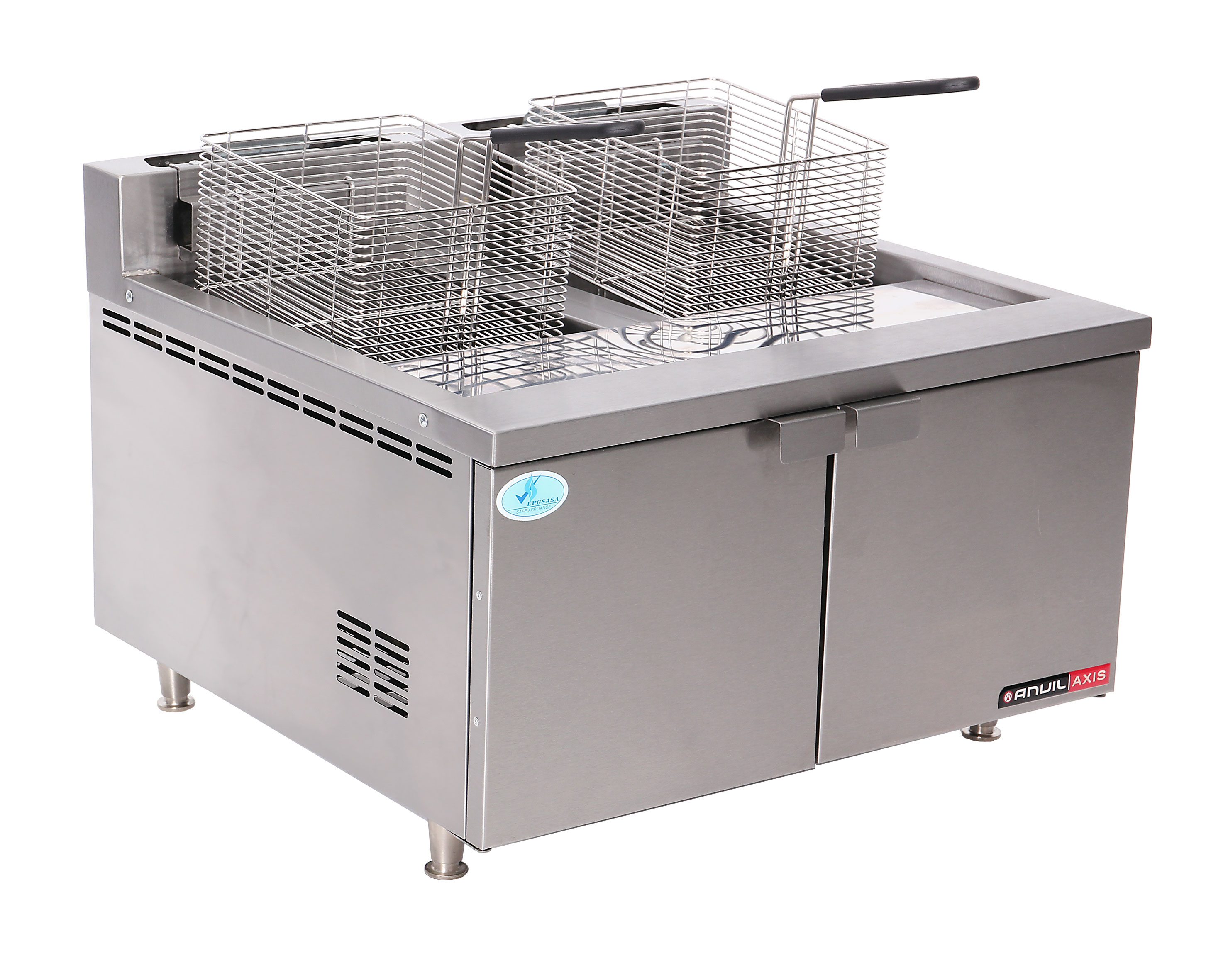 FISH FRYER ANVIL - DOUBLE PAN - GAS