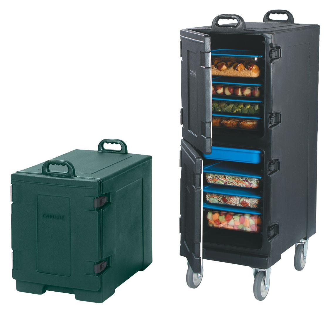 FOOD SERVER FRONT LOADER - DOUBLE (BLACK) 33.1kg - 431 x 622 x 1263mm