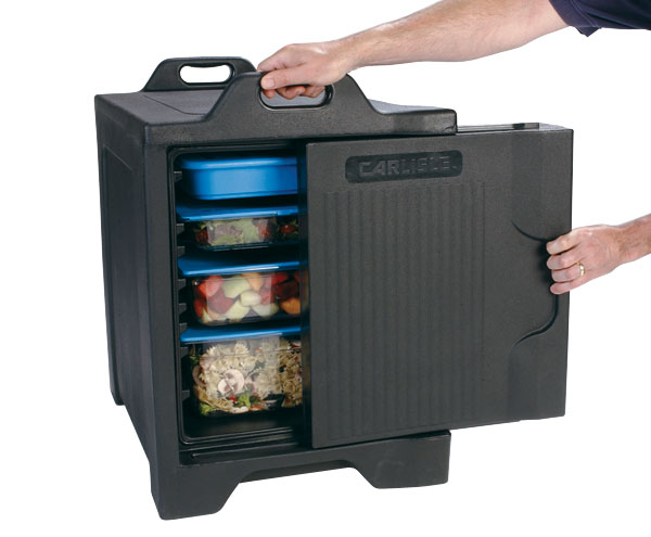 FOOD SERVER INSULATED - SINGLE (BLACK) 9.0kg - 479 x 641 x 676mm