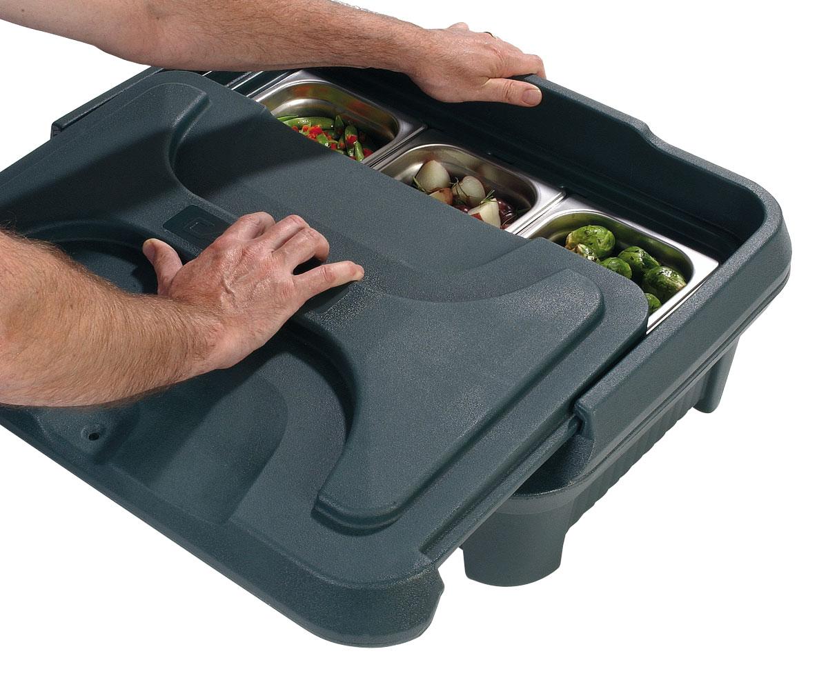 FOOD SERVER TOP LOADER - 150mm (BLACK) 9.3kg - 443 x 647 x 290mm
