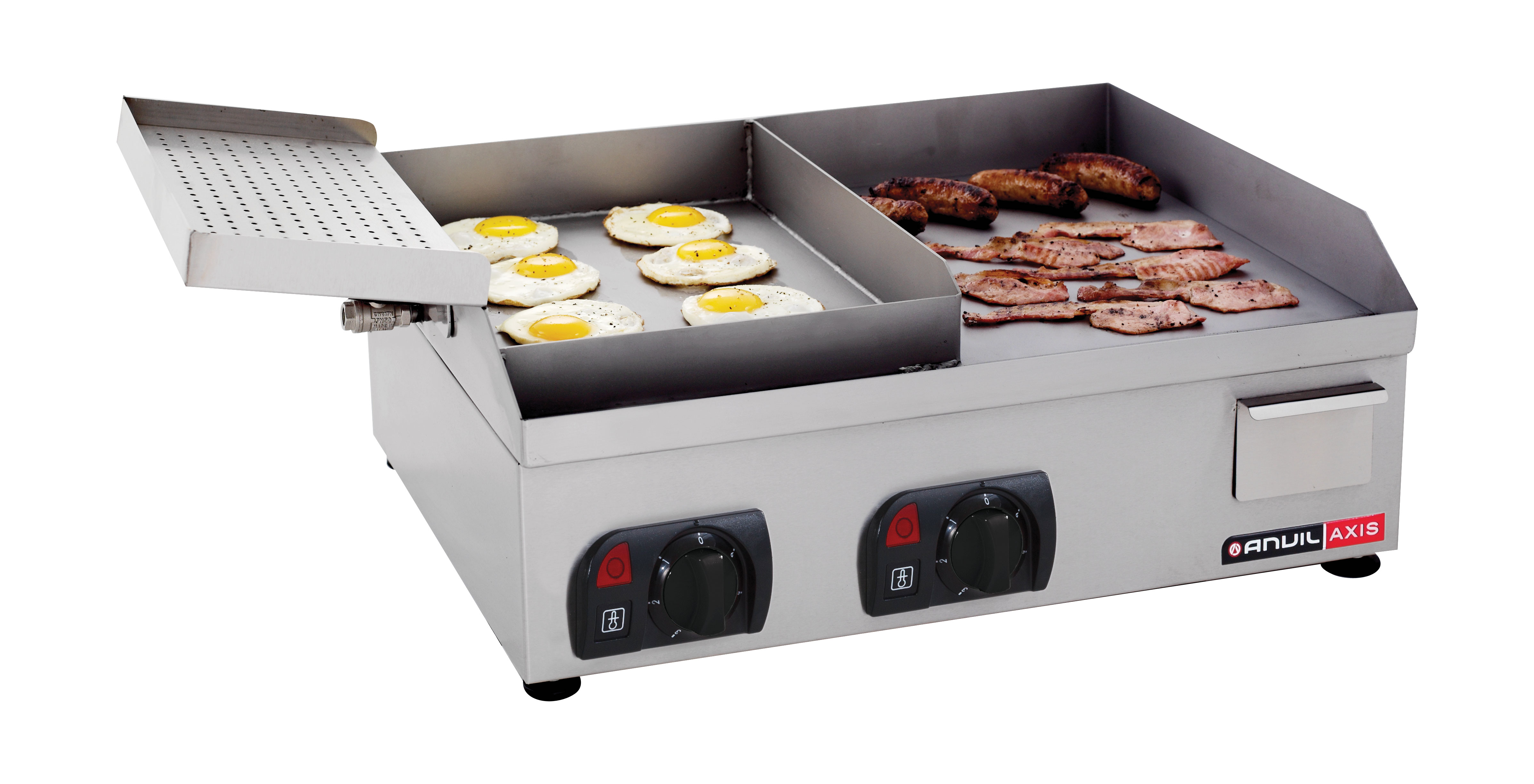 FLAT TOP GRILL ANVIL - EGG & BACON - 600mm - ELEC