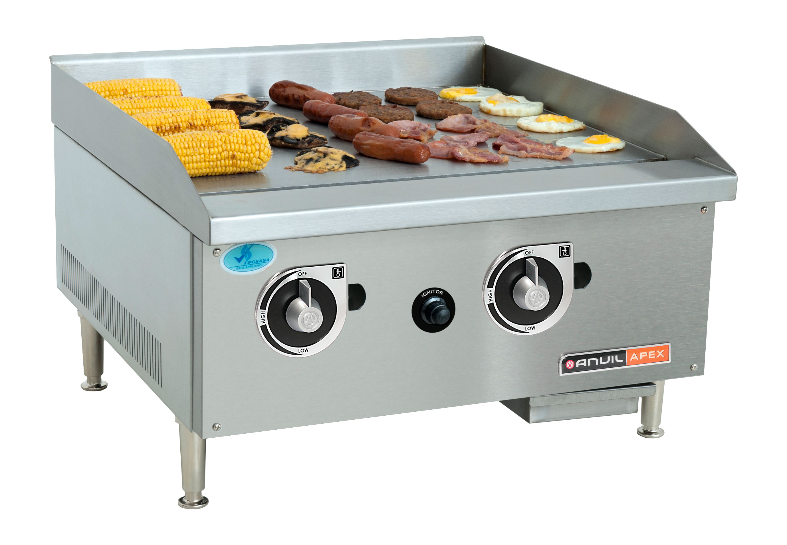 FLAT TOP GRILLER ANVIL - 600mm - PREMIER RANGE - GAS
