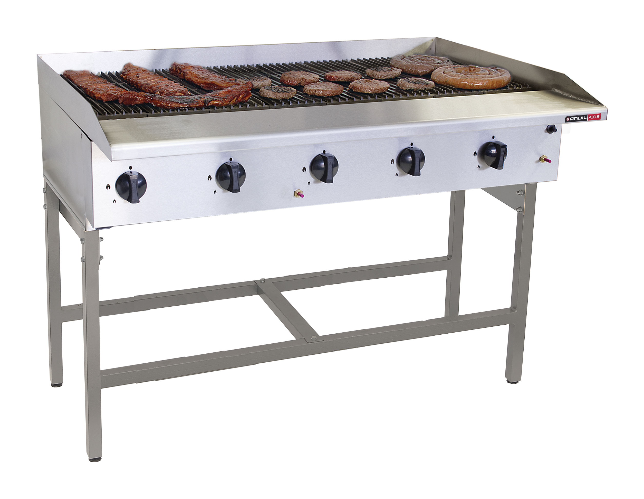 GAS GRILLER ANVIL - 10 BURNER RADIANT - FREE STANDING