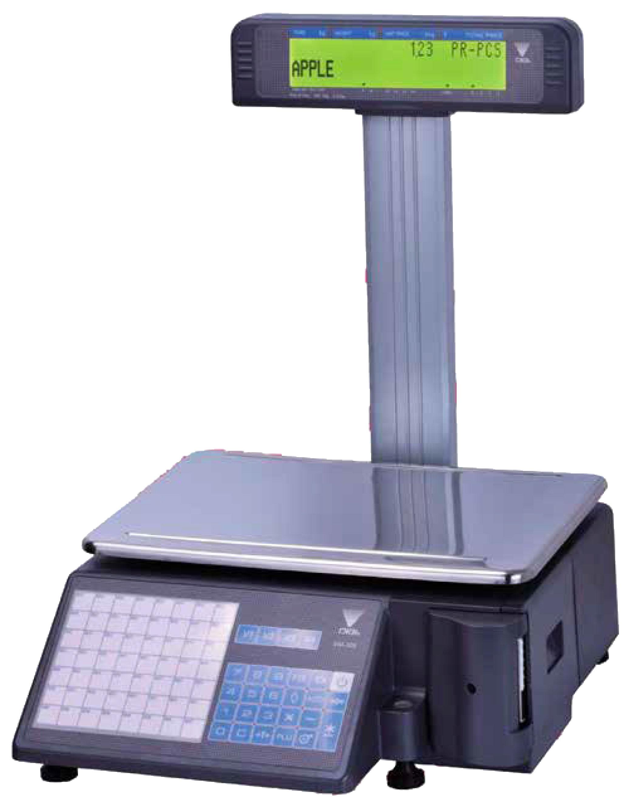 DIGITAL PRINTING SCALE 15KG/5G WITH DUAL POLE DISPLAY -SM320P