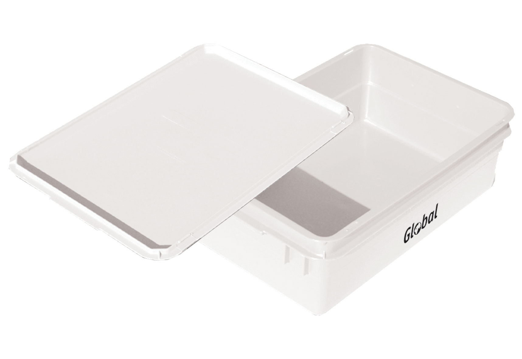 STORAGE CONTAINER LARGE WITH LID - PLASTIC - 600 x 400 x 195mm