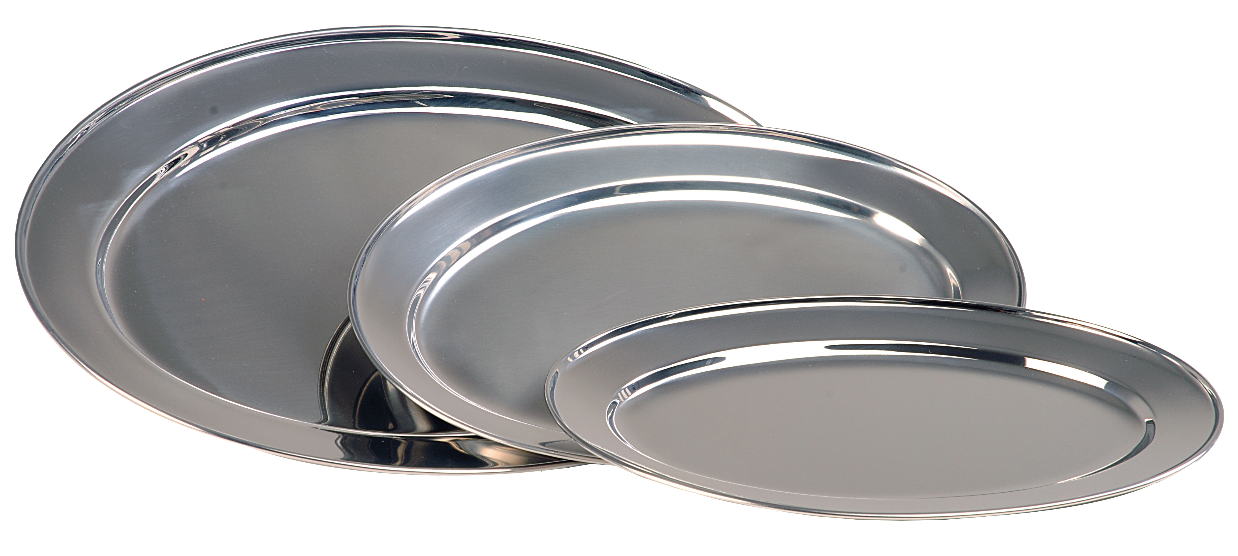 SERVING PLATTER OVAL S/STEEL - 410mm