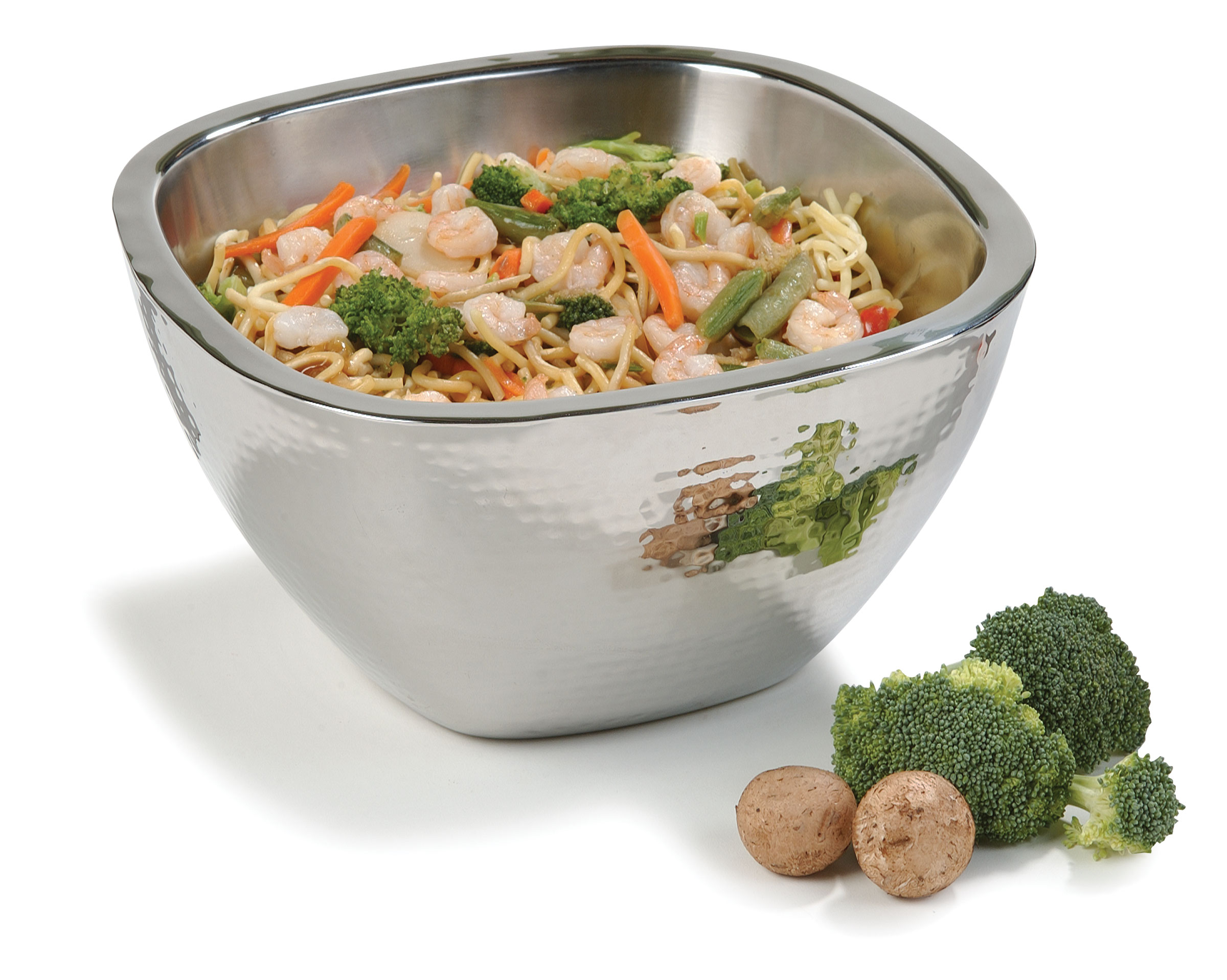 S/STEEL SERVING BOWL SQUARE - 260mm