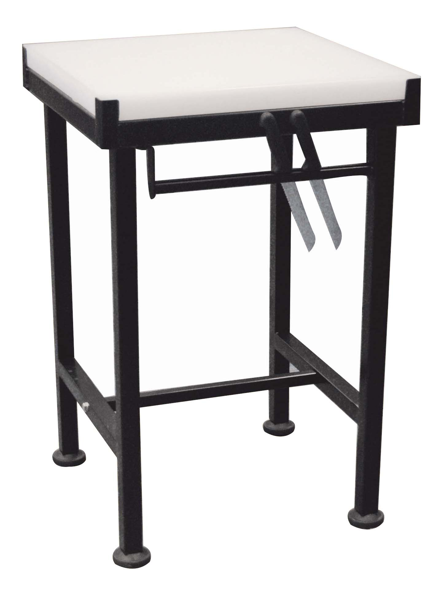 BUTCHER BLOCK STAND FOR PVC