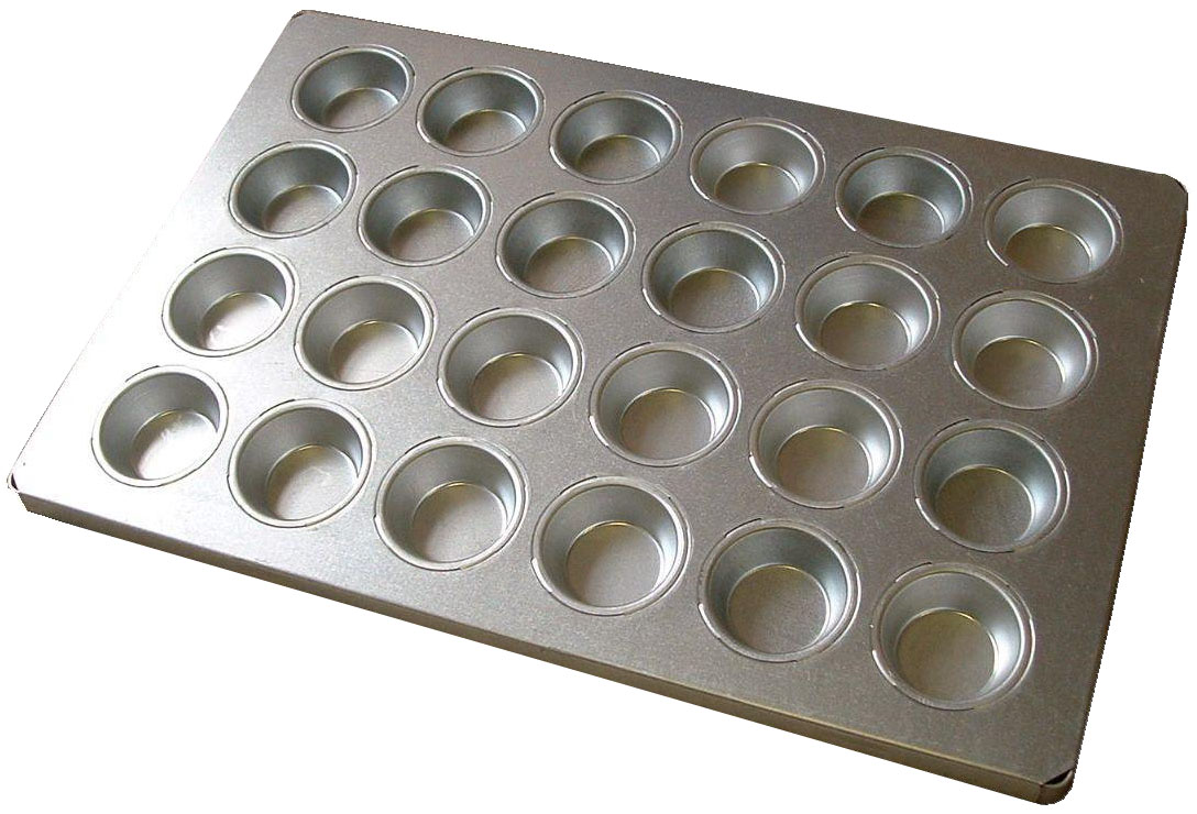 BAKING TRAY ALUSTEEL - REGULAR MUFFIN 24 CUP 600 X 400MM