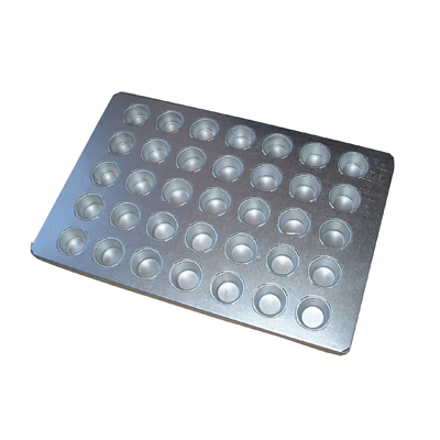 BAKING TRAY ALUSTEEL - SMALL MUFFIN 35 CUP 600 X 400MM