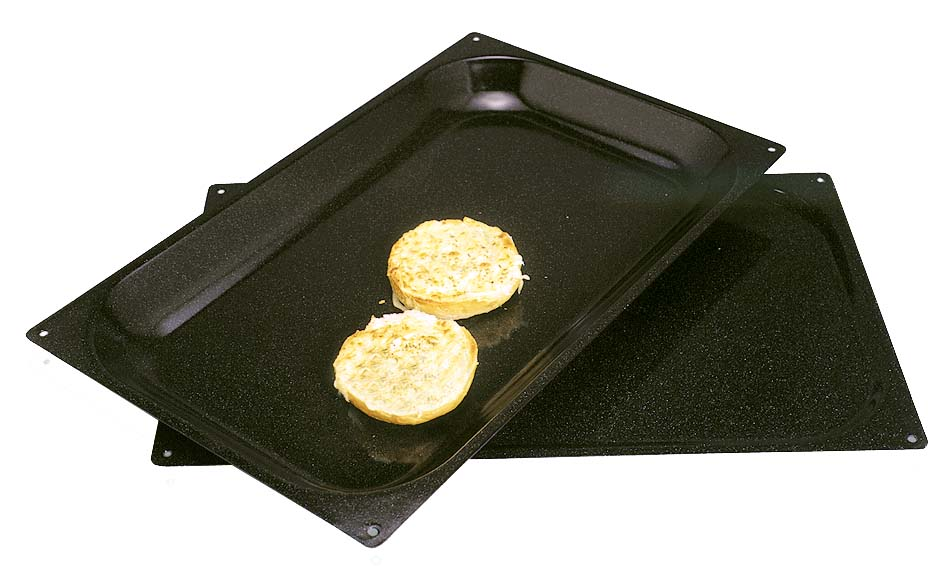 BAKING TRAY ENAMELLED - 535 X 325 X 10 MM (BLACK)