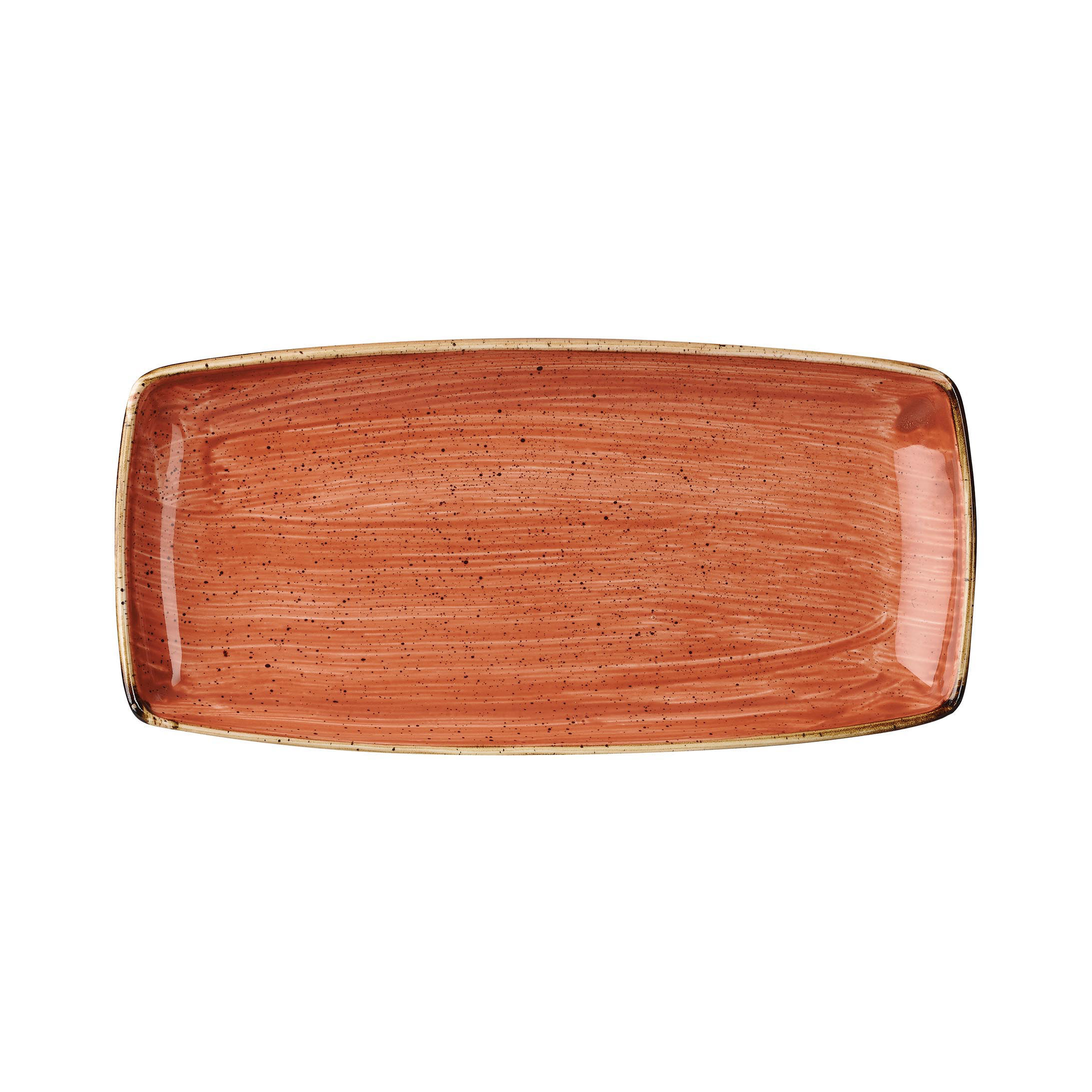 SPICED ORANGE - OBLONG PLATE - 29.5 x 15cm (12)