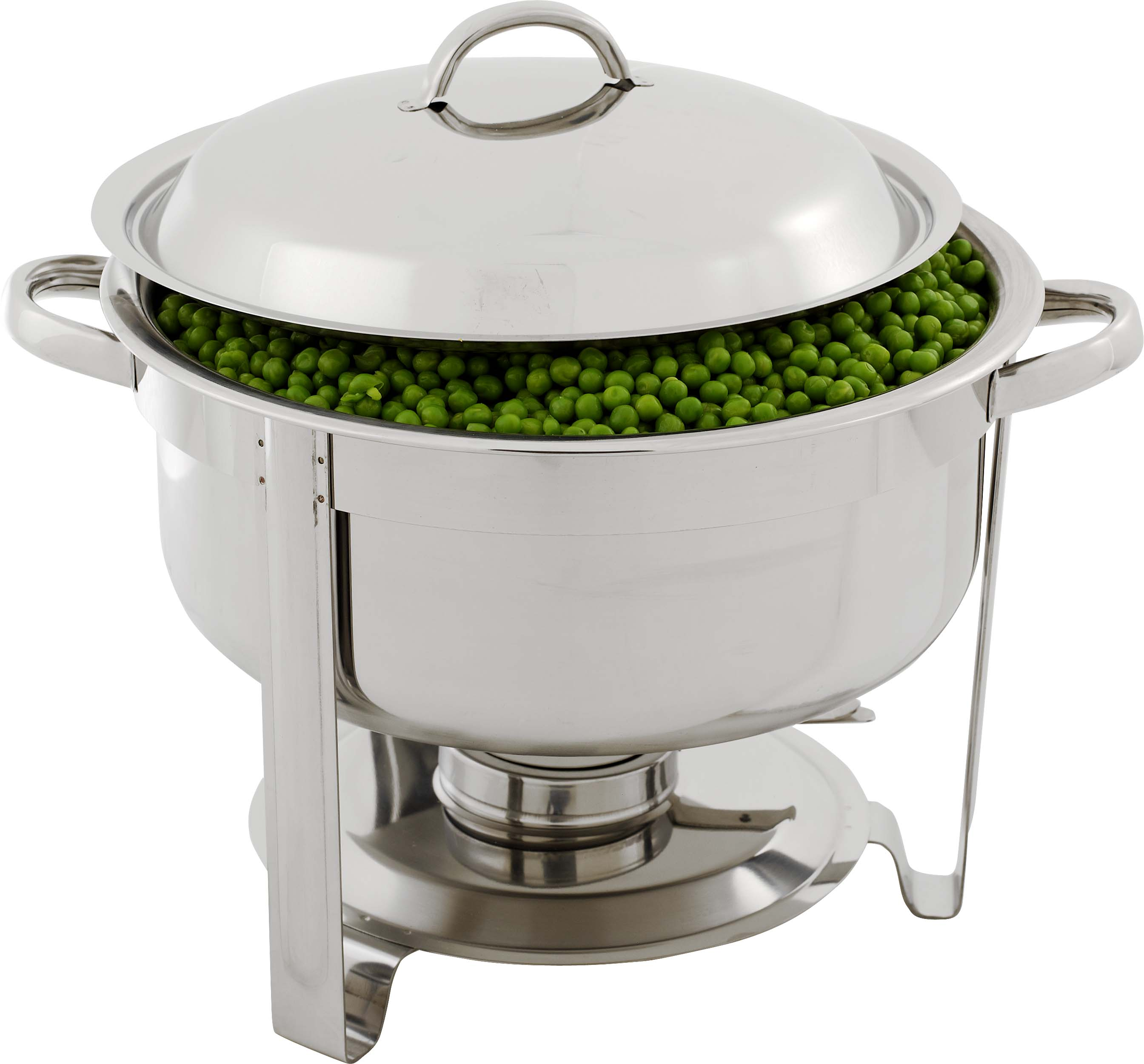 CHAFING DISH S/STEEL-POLISHED ROUND 6.8Lt