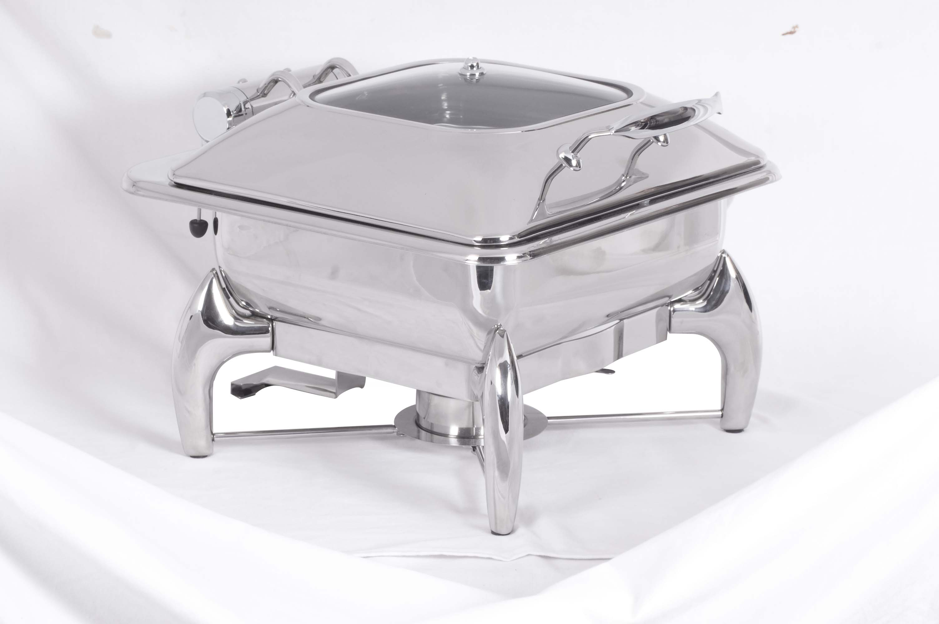CHAFING DISH INDUCTION - SQUARE WITH GLASS LID 5.5Lt