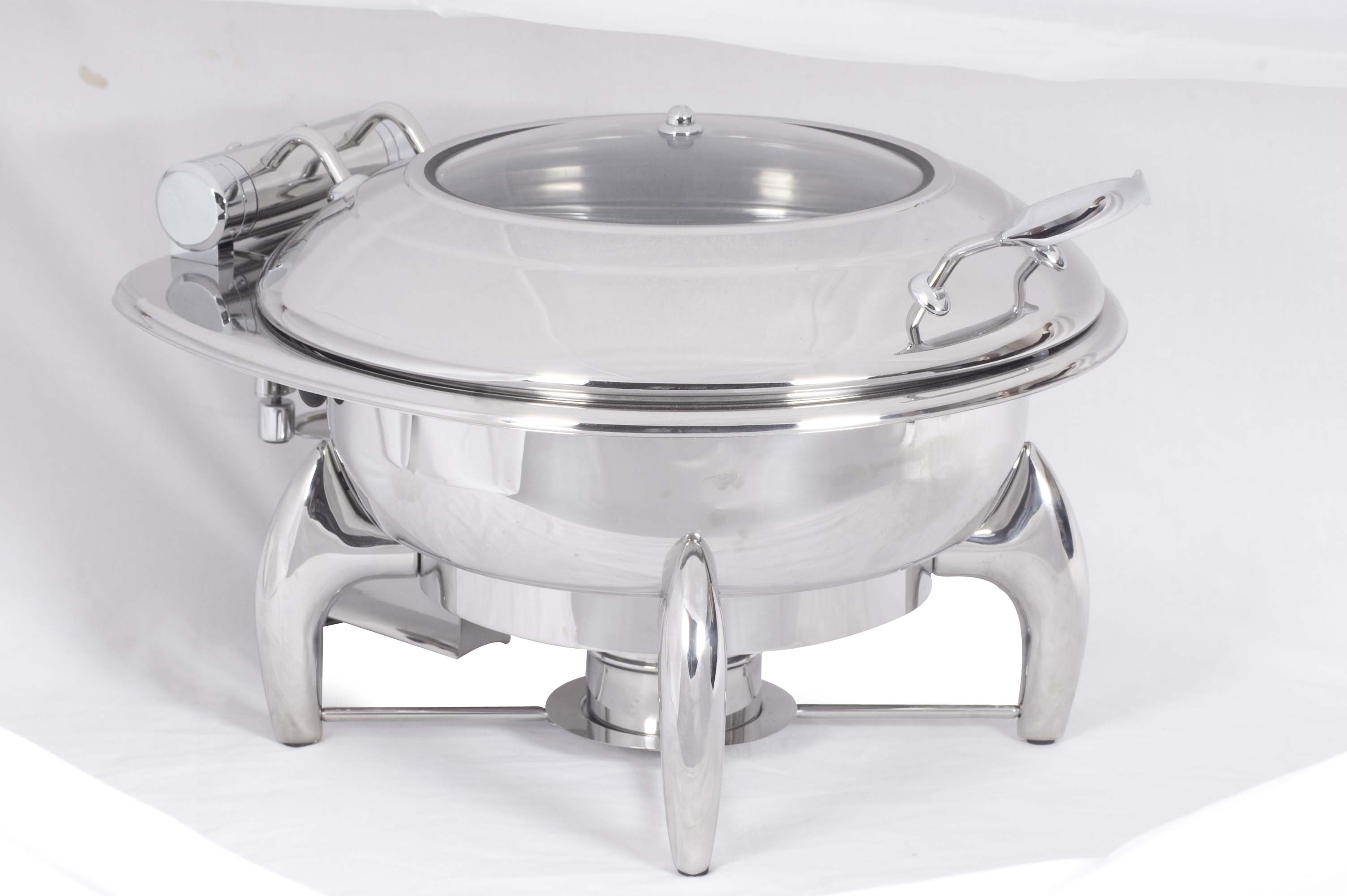 CHAFING DISH INDUCTION - ROUND- GLASS LID 6Lt