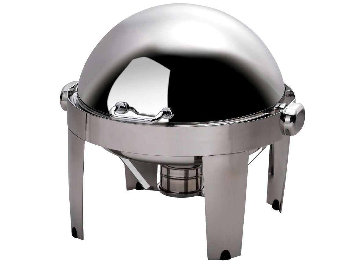 CHAFING DISH IBIS ROUND ROLL TOP 18/10 S/STEEL 515 x 518 x 470mm 6.5Lt