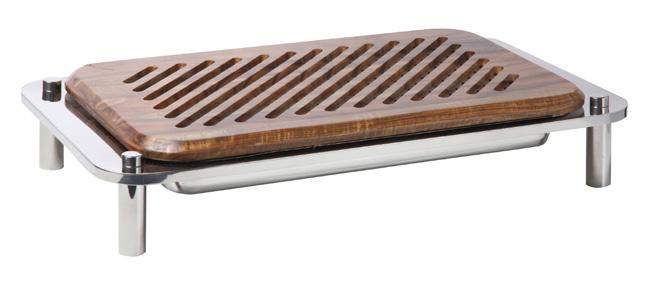 DOMINO BREAD CUTTING BOARD ON STAND 615 x 350 x 116mm
