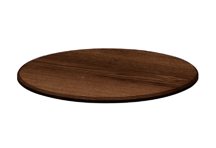 DOMINO WOODEN TRAY ROUND 350mm