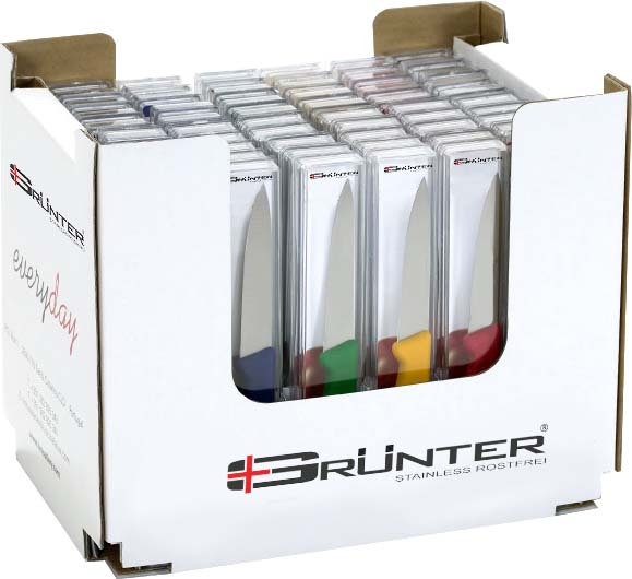 PAIRING KNIFE - 100MM COLOUR BOX SET GRUNTER 60 PIECE