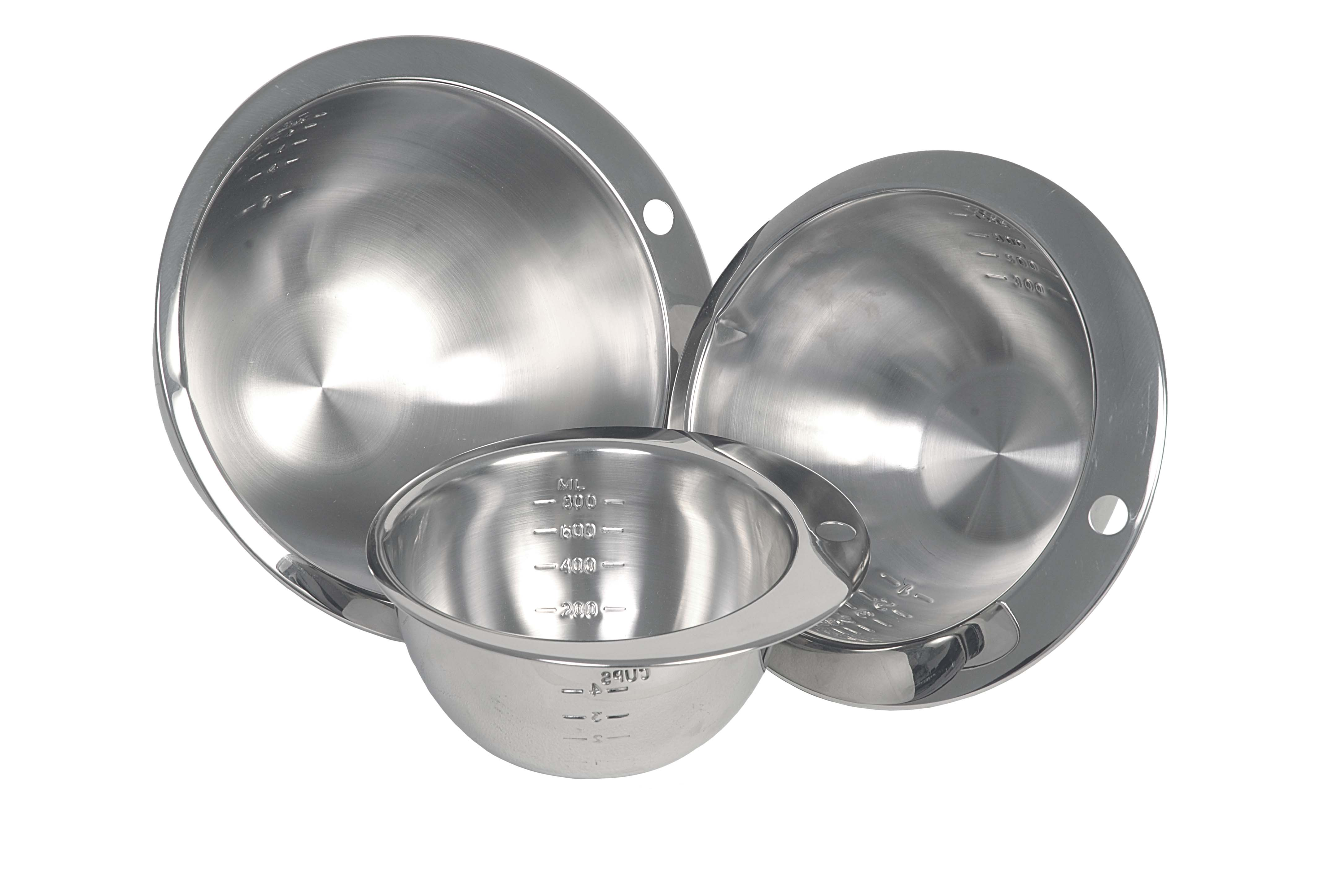 MEASURING BOWL STAINLES STEEL ROUND NOTCHED 800ML