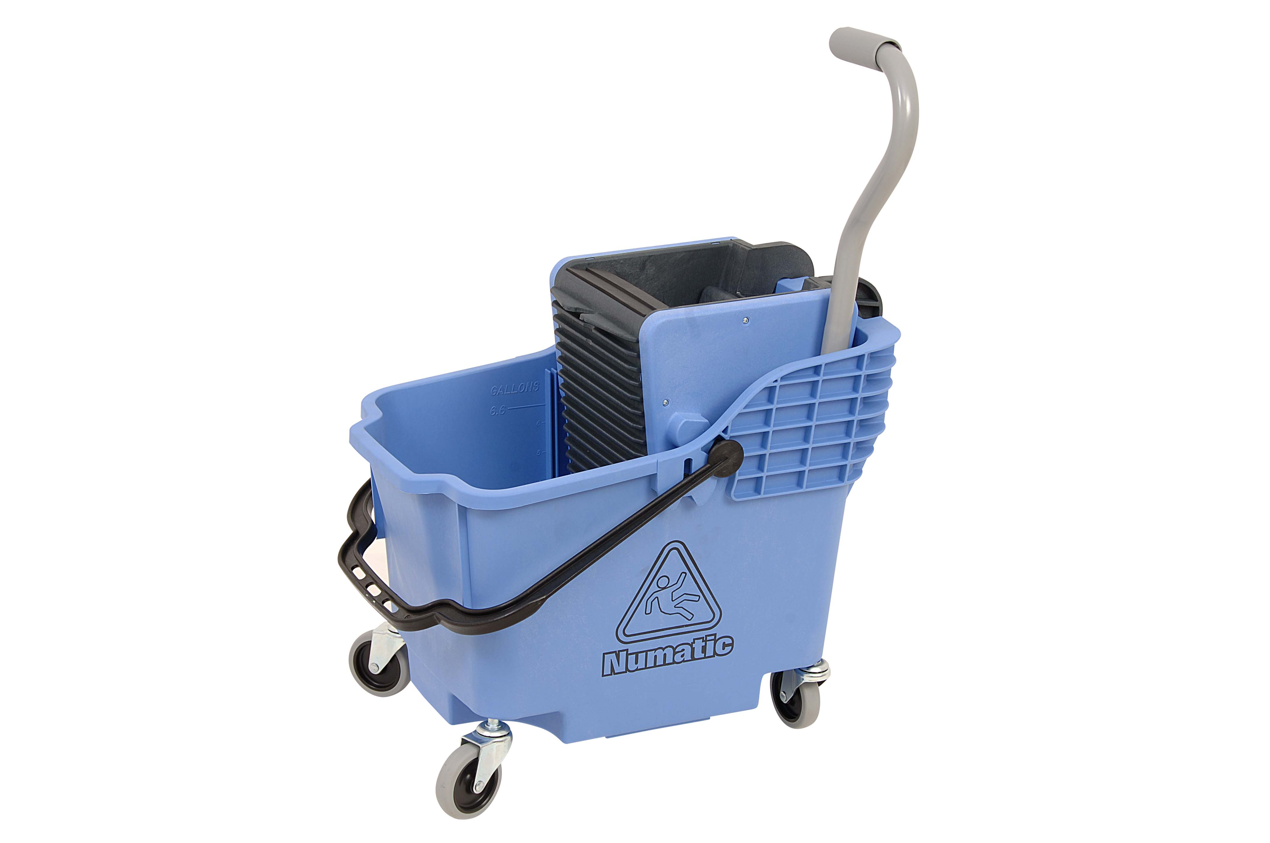 NUMATIC PLASTIC BUCKET & WRINGER - BLUE