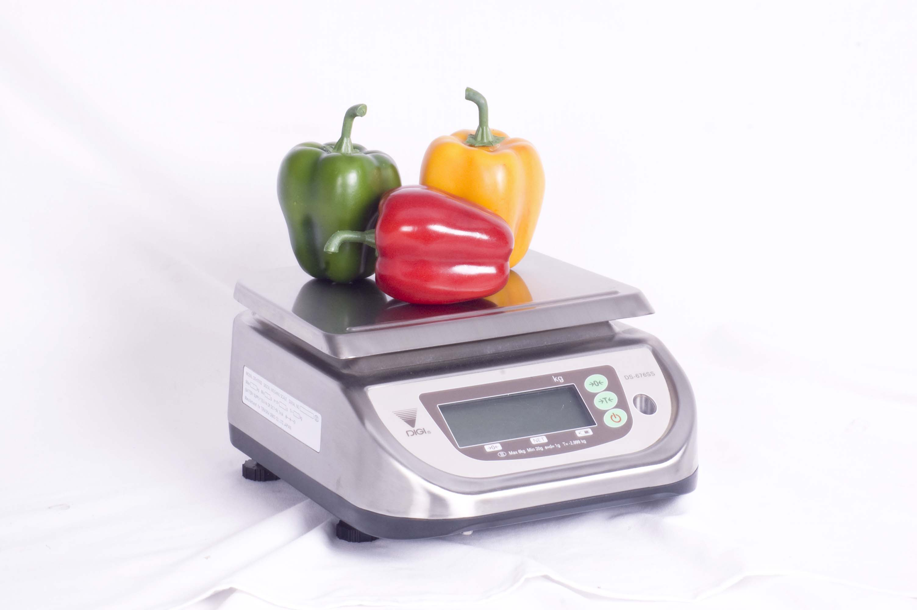 PORTION SCALE ELECTRONIC - 3/6KG (1/2GR) S/STEEL
