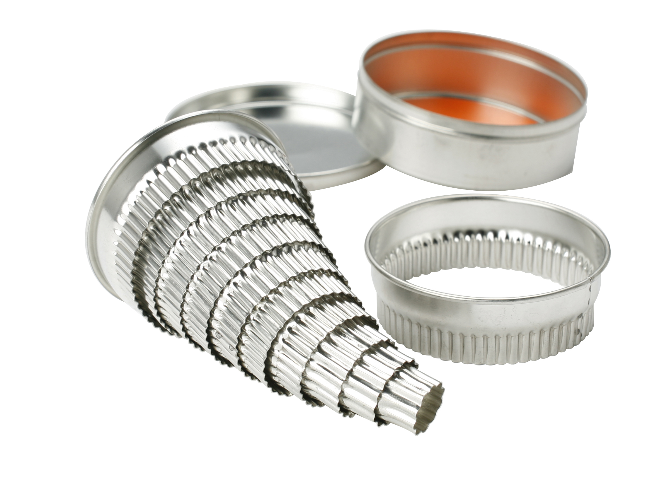 ROUND CUTTER SET TINNED FLUTED 10 PIECE