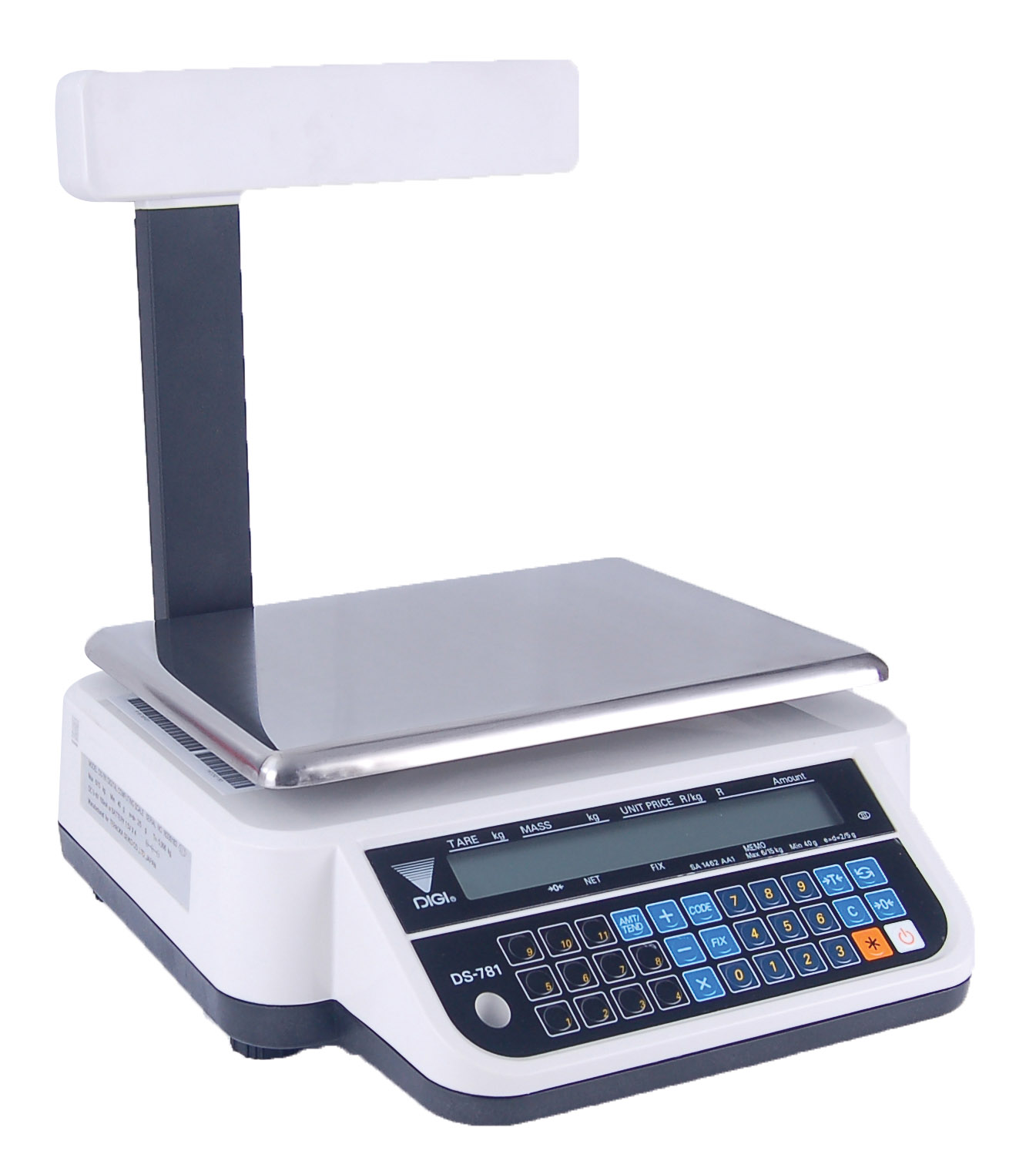RETAIL SCALE ELECTRONIC - 6/15KG (2/5GR) INCL POLE