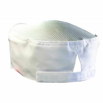 CHEFS UNIFORM - CHEFS EZI BREATHE HAT (WHITE) WITH VELCRO