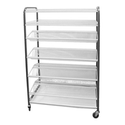 CROCKERY RACK MOBILE - F/STANDING - 830mm (830 x 600 x 1700mm)