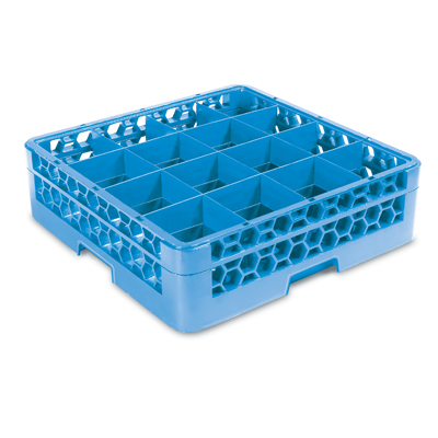 GLASS RACK 16 COMPARTMENT (BLUE)