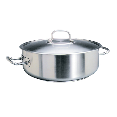 POT S/STEEL LOW CASSEROLE -  4LT
