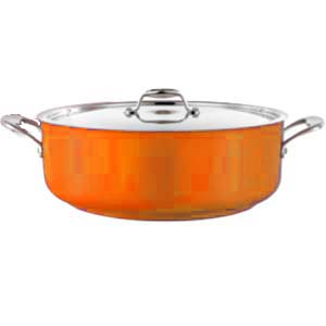 POT (GREY) LOW CASSEROLE 8.9L W/LID