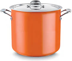 POT (ORANGE) CASSEROLE 14L W/LID