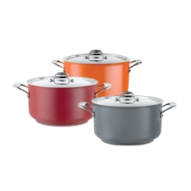 POT (RED) CASSEROLE 14L W/LID
