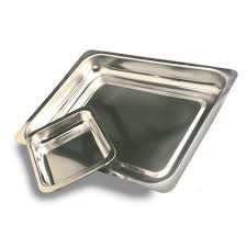 STEAK & KIDNEY DISH S/STEEL-SK5- 490 X 365 X 35 MM(SHALLOW)