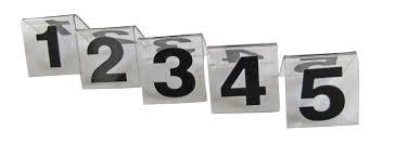 PLASTIC TABLE NUMBER STAND 11 - 20